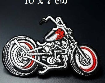 Patch embroidered patch Thermo - MOTO CROSS black red * 10 x 7 cm * Applique iron-on