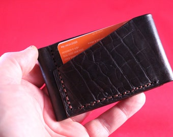 Heavy Duty Rustic Leather Card Wallet