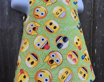 Crossback Top --- All the Emojis - Reversible Pinafore