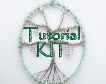DIY Jewellery making kit, jewelry kit, wire tree materials, tree pendant kit, make your own, MATERIALS ONLY