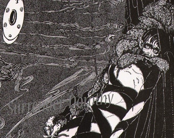 The Pit and the Pendulum Harry Clarke 1933 Edgar Allan Poe Original Vintage Illustration To Frame Black & White