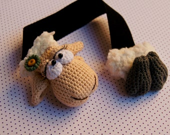 Bookmark Sheep Girl Amigurumi crochet