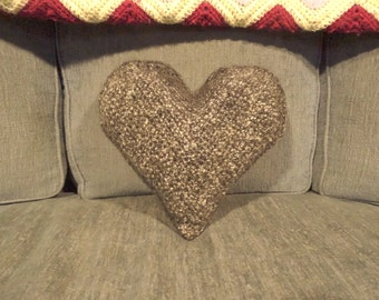 "11"" x 11"" Black and White Throw Pillow - Heart Shaped Pillow - Heart Travel Pillow - Decorative Pillows for Couch - Housewarming Gift"