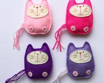 Felt Kitty cat toy, cat gift, stocking stuffer, fun toy, kid toy, home decor