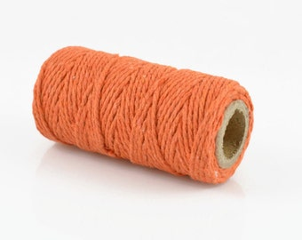 ORANGE BAKERS TWINE - Orange Twisted Cotton String / Bakers Twine (20 meter spool)