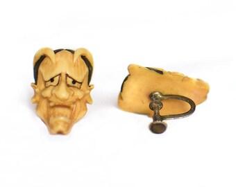1950s Vintage Devil Earrings