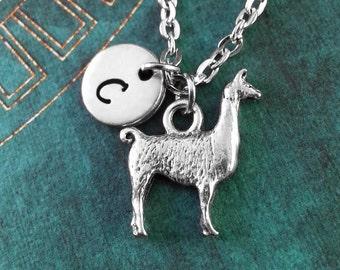 Llama Necklace Alpaca Necklace Personalized Necklace Llama Pendant Animal Jewelry Animal Necklace Llama Gift Llama Charm Necklace Christmas