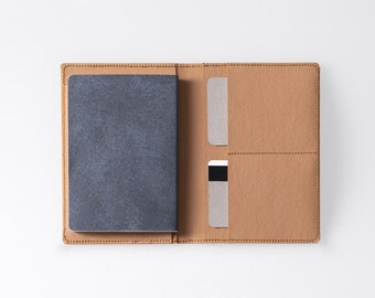 Travel Wallet / Minimalist Washable Paper Passport Sleeve in Sahara Camel / Vegan Paper Passport Sleeve