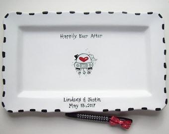 Ceramic RECTANGLE Signature Plate- Guest Book Alternative