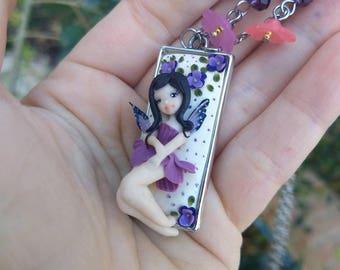 Choker with Purple Fairy