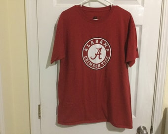 University of Alabama Crimson Tide T-Shirt! Red Color ~ Adult Large