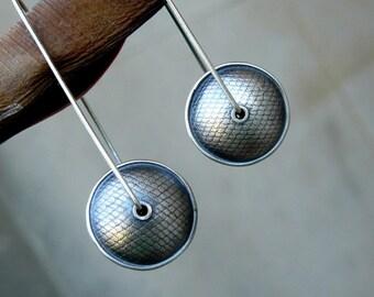 Oxidized sterling earrings
