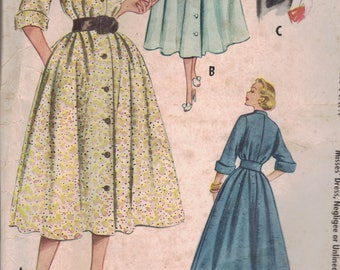 Vintage 1953 McCalls sz 16 Dress, Negligee and Unlined Jacket Pattern, 9385