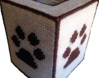 Paw Print Tissue Box Cover, Animal Lover Tissue Cozy