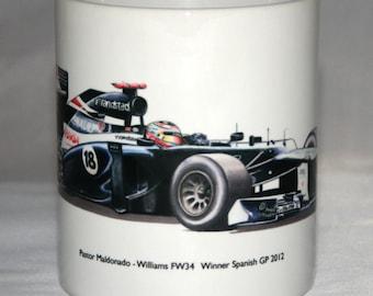 Formula One Mug. Pastor Maldonado - Williams FW34