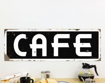 Cafe Deco White on Black Wall Decal - #72480