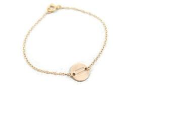 Equality gold Bracelet. Small Disc gold Bracelet. Symbol disc bracelet. Bridesmaid gift ideas. Gold bracelet. Personalized jewelry. Gifts