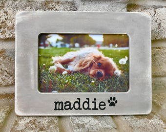 Personalized picture frame Custom Picture Frame 4X6 Picture Frame Photo Pet Memorial Pet Frame Personalized Dog Frame Personalized Dog Frame