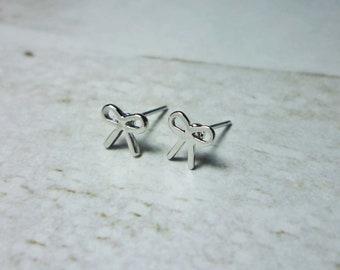 Mini Bow Stud Earrings, Dainty Earrings
