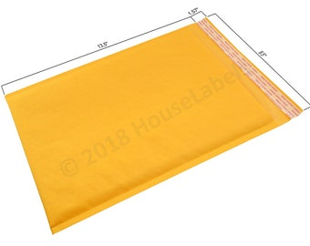 "100 Bags #4 9.5X14.5 KRAFT Bubble Padded Envelope Interior 9.5"" x 13.5"""