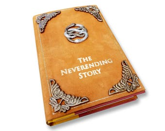 BACK IN STOCK!! The Neverending Story book Leather dust cover