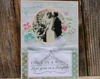 Vintage Wedding handmade card