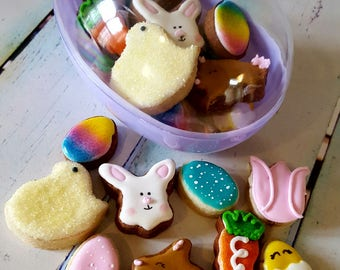 Easter Mini Cookies in Easter Egg