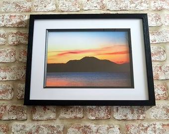 Loch Lomond sunset, Dusk over Loch Lomond, Ben Lomond print, Ben Lomond Sunset Framed Print A3 or A4