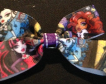 Monster high print boutique bow - stocking filler - girls stocking filler - monster high christmas