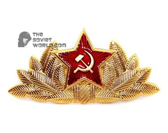 Soviet Red Army Russian military General's hat badge Cocarde