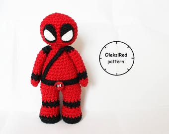 Deadpool amigurumi CROCHET PATTERN!