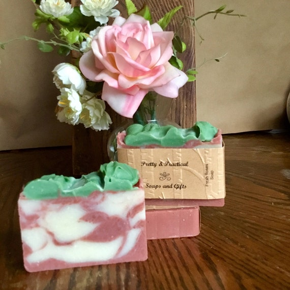 Fresh Roses Soap, natural soap, floral scented, handmade soap
