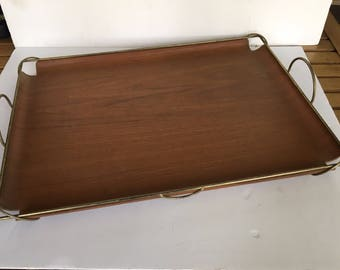 Vintage Bent Plywood Atomic Tray George Nelson Attrb- Mid-century Modern