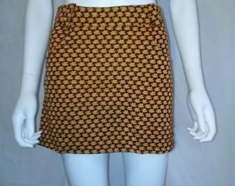 Closing Shop SALE 90s floral mini skirt, 70s look flowers mini skirt, nu grunge Mall skirt