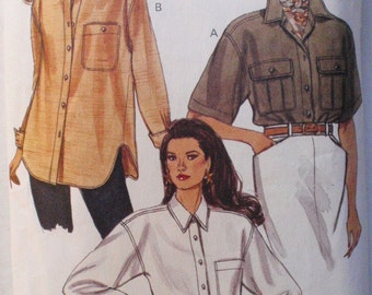 Vogue 8447 - Women's Sewing Pattern - Loose Fitting Shirt - Sizes 6-8-10, Bust 30 1/2 - 32 1/2