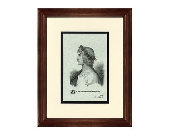 Print and Quotation of Virgil with Mat and Frame