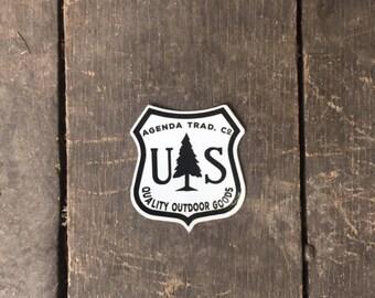 US Forest homage sticker