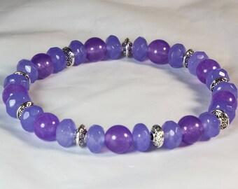 "Cynthia Lynn ""JUNE'S CHILD"" Ladies Lavender Alexandrite Gemstone June Birthstone Stretch Bracelet"