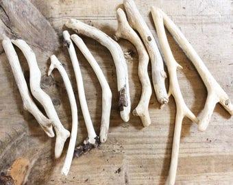 Driftwood escocés, paquete de Driftwood, medio paquete de Driftwood, playa madera, fuente de arte, madera para manualidades