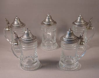 Schnapskrügerl Mini Steins with Lids THREE AVAILABLE