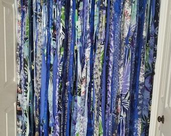 Bohemian Curtains Boho Curtains Gypsy Curtains Hippie Curtains Rag Curtains Blue Curtains Boho Door Curtains Room Divider Curtains
