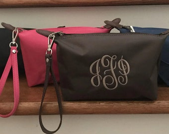 Travel Accessories - Custom - Wristlet - Monogram Makeup Bag - Small Nylon Bag - Cosmetic Bag Small - Travel Bag for toiletries