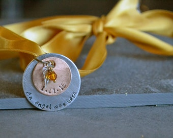 personalized infant loss, miscarriage still born ornament, an angel was born