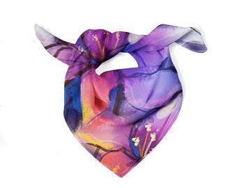 Purple Swirl Scarf