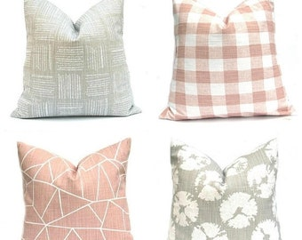 15% Off Sale Gray Pillows, Gray Pillow Covers,  Gray throw pillows, Throw Pillows, Throw Pillow covers,  Pink Pillow, Pink Pillow Covers