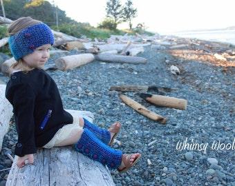 Headband & Leg Warmers Crochet Pattern: Beginners Crochet, 'Variegated Graffiti', Kids Fashion