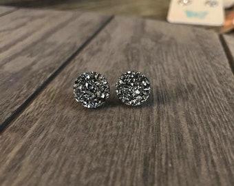 Silver Shimmer Quartz Earrings