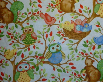 Apron for kid / Owls and birds, apron, kids apron, kitchen apron, kids kitchen apron