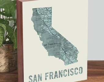 San Francisco Art Print -San Francisco Map - San Francisco Map Print