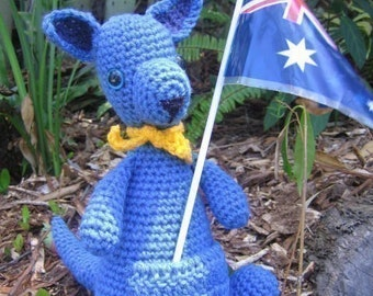 True Blue Kangaroo - crochet pattern